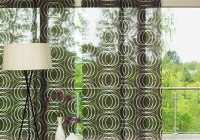 panelgardiner med mønster